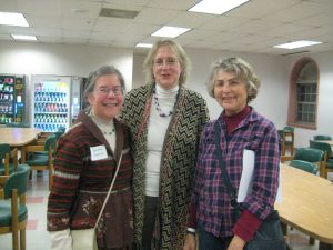 Artist Marsha Solomon, art critic Mary Gorgy, Artist Annette Hannah