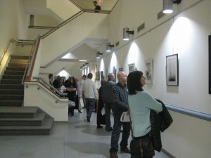 Crowds appreciate works on the 2nd floor