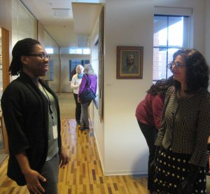The Dodge Foundation's Naeema Campbell with artist Alaine Becker