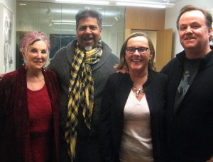 MIchelle and Sunil Garg with Kadie Dempsey and Dan Fenelon