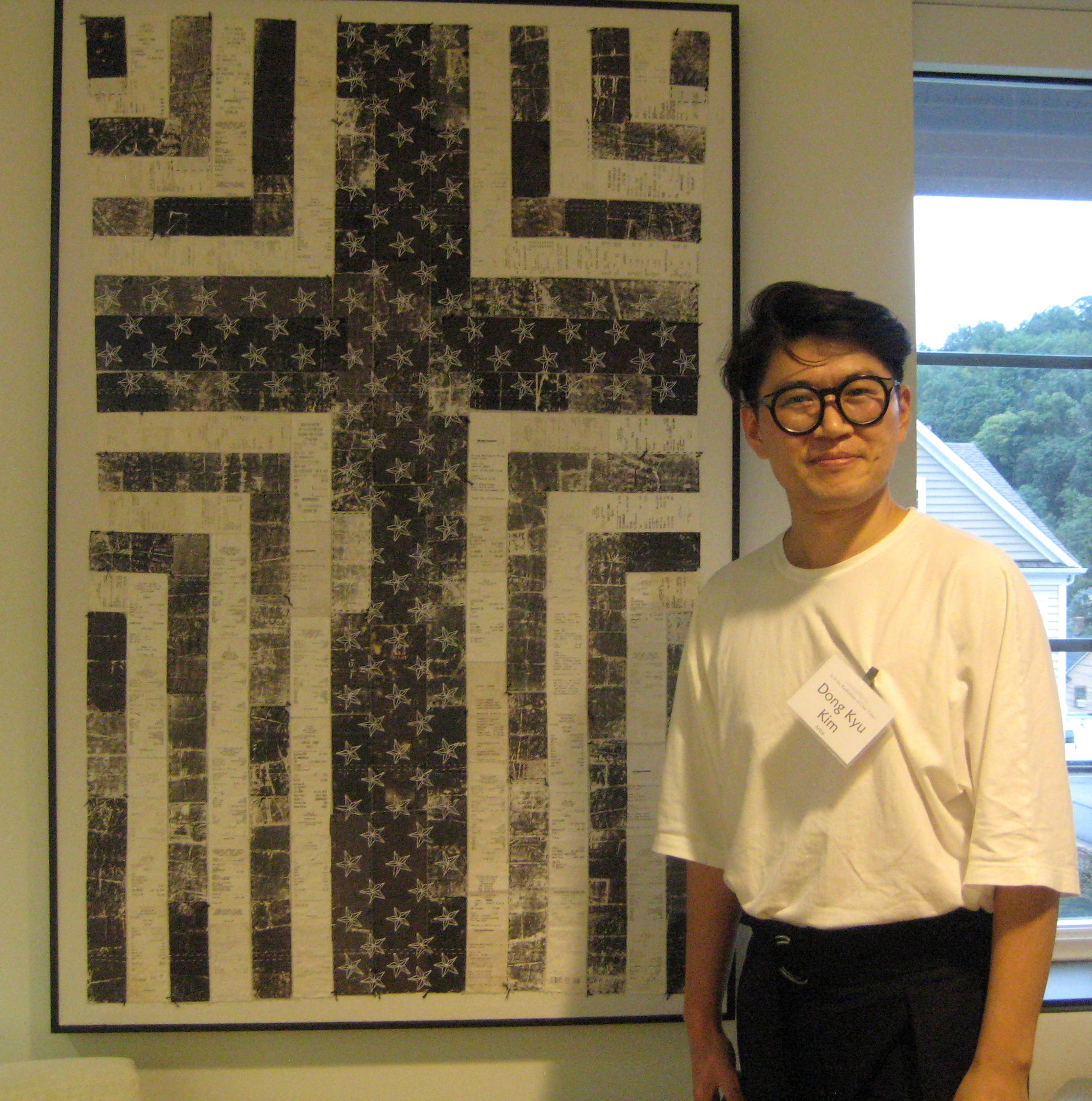 IMG 0494 Artist Dong Kyu Kim With His Work The Most Famous Stars And Stripes 2