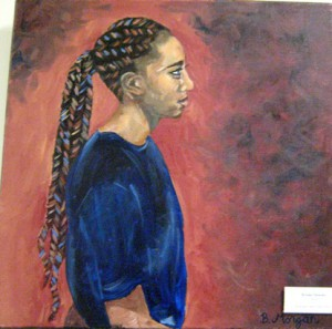 small, Brooke Downes' oil, Courtney (Mt. Lakes)