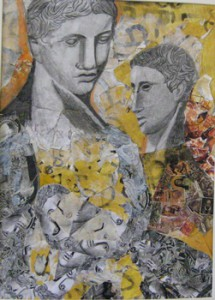small, Elizabeth Davalos' collage, Antiquities (Mt. Olive)