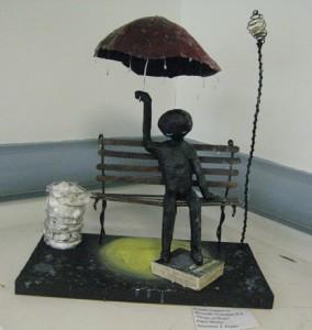 small, Jennifer Cappuccio's paper mache, Drops of Hope (Montville Twp)