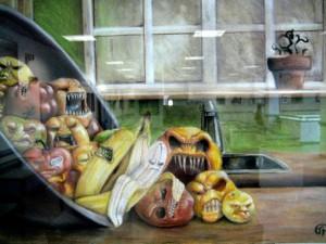 small, Julia Penny's pastel, Rotten Fruit (Academy of St. Elizabeth)