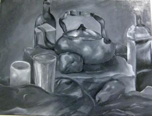 small, Lauren Bromley's oil, En Grisaille (Mendham)