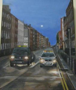 small, Maggie Walter's acrylic, Super Moon in Dublin (Mendham)