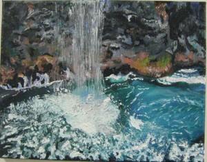 small, Maureen Shelley oil, Na Pali Coast (Mendham)