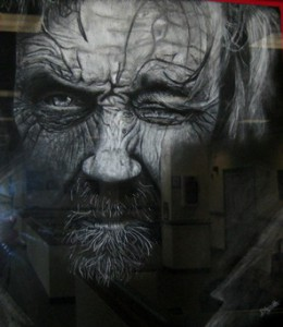 small, detail of Best in Show, Rachel D'Agnilli's charcoal, Untitled (Butler)