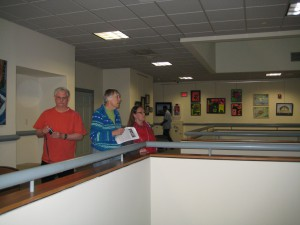 Looking at works on the 4th floor (Contemporary Art Group)