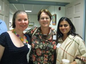 Artists Kim Griswold, Jean Leigh and Hema Bharadwaj