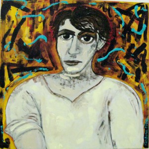 Nina Palumbo's acrylic on canvas, Young Picasso