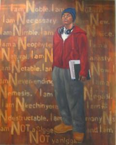 Alonzo Adams oil, I am the N Word