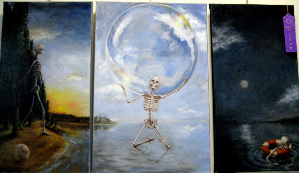 BEST IN SHOW, Tyler Harker's oil, Triptych
