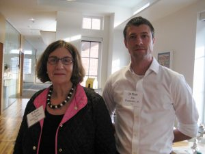 Curator Virginia Butera,PhD, with Artist/photographer Joe Freeman, Jr.