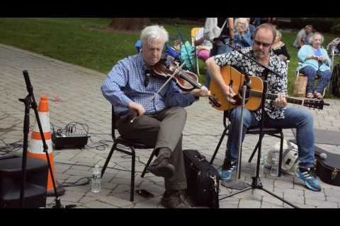 Brian Conway plays Irish fiddle on the Morristown Green